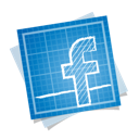blueprint, facebook, social icon