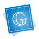 blueprint, google, social icon
