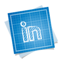 blueprint, linkedin, social icon