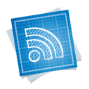blueprint, rss, social icon