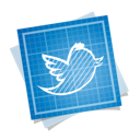 bird, blueprint, social, twitter icon