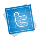 blueprint, social, twitter icon