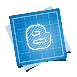 blogger, blueprint, social icon