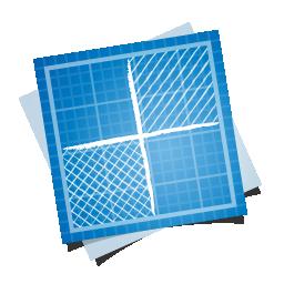 blueprint, delicious, social icon