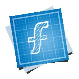 blueprint, f, social icon