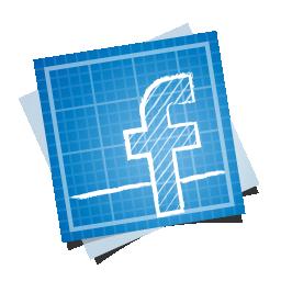 blueprint, facebook, social icon