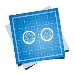 blueprint, flickr, social icon