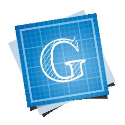 blueprint, google, social icon