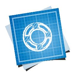 blueprint, help, social icon