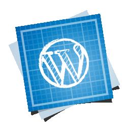 blueprint, social, wordpress icon