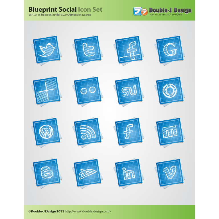 blueprint, preview, social icon