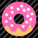 cake, dessert, donut, donuts, doughnut, food, junk icon