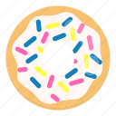 cake, dessert, donuts, doughnut, food, ring, sweet icon