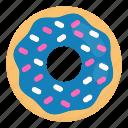 cake, donut, donuts, doughnut, food, junk, sweet icon