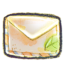 leaf, mail icon