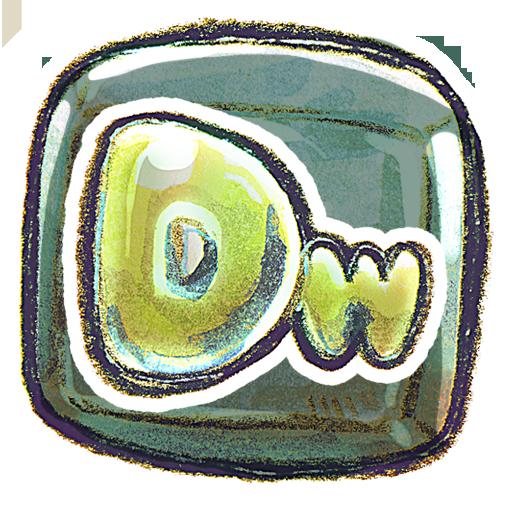 adobe, dreamweaver, square icon