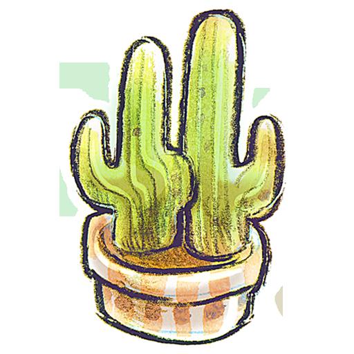 cacti, flowerpot icon