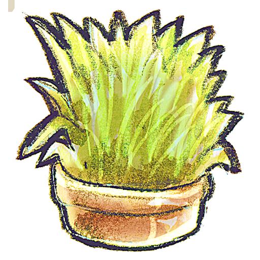 flowerpot, grass icon
