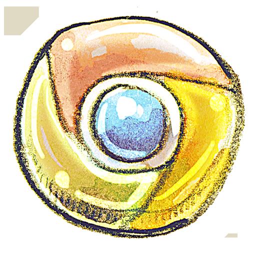 chrome, web icon