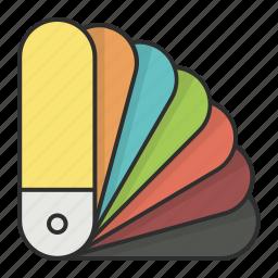 color, colors, fan, pallet, pantone icon