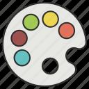 artist, paint, paintbrush, painting, paints, palette icon