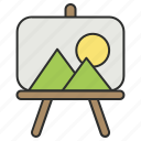 art, canvas, design, drawing, easel, painting icon