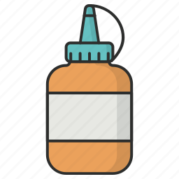adhesive, classroom, glue, glue bottle, stationery glue, tool icon