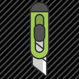 artistix, box cutter, cut, knife, stationery, tool, utensil icon