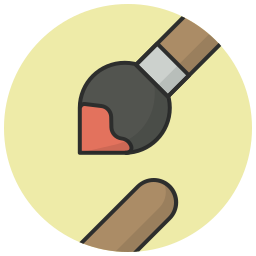 art, artist, brush, drawing, paint, paintbrush, painting icon