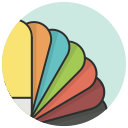 color, colors, fan, pallet, pantone icon
