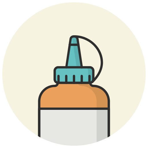 adhesive, classroom, draw, glue, glue bottle, stationery glue, tool icon