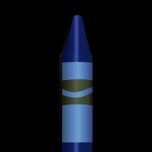 blue, crayon icon