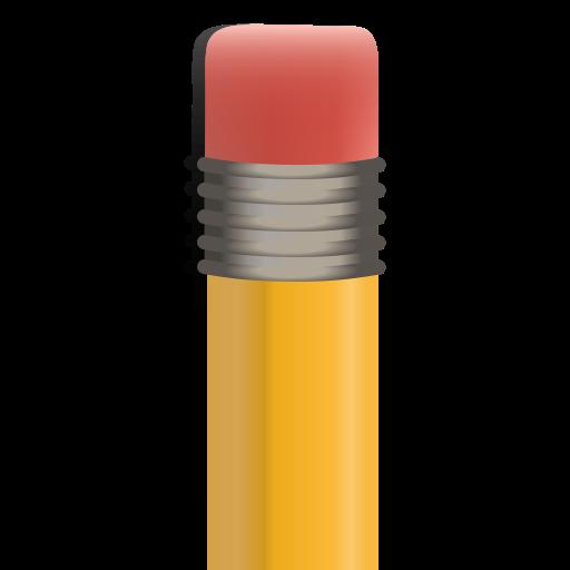 eraser, pencil, pencil's eraser icon