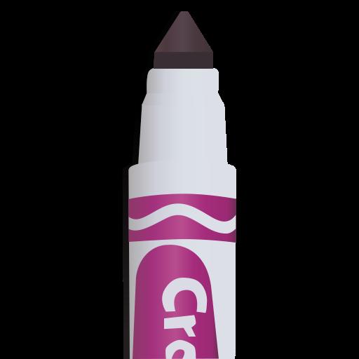 marker, marker tip, purple marker icon