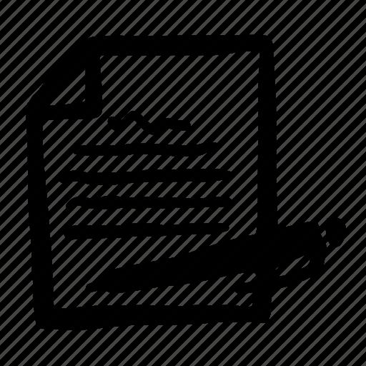edit, news, newspaper, pen, pencil, write icon