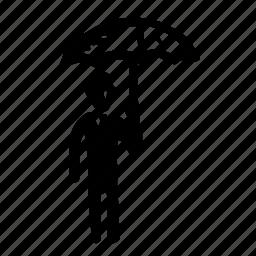 avatar, man, people, person, profile, umbrella, user icon