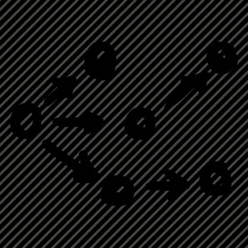 chart08, divid, division, split icon