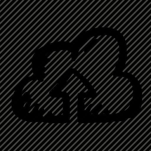 cloud, data, direction, forecast, rain, up icon