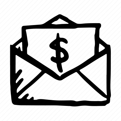 bank, communication, email, envelope, message, money, payment icon