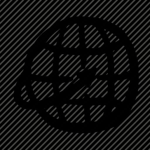 delivery, globe2, service, transportation, travel, vehicle icon