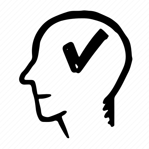 avatar, check, head, list, yes icon
