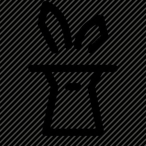 bunny, dream, hattrick, illustion, magic, rabbit icon