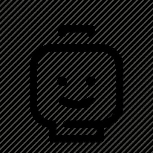 brick, bricks, child, dream, head, lego, toy icon
