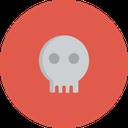 creepy, grave, halloween, horror, scary, skull icon