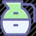 3, glass jar, jar, jug, jug of milk, milk jug, pot icon