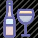 .svg, alcohol, alcoholic drink, beverage, bottle, drink, glass icon