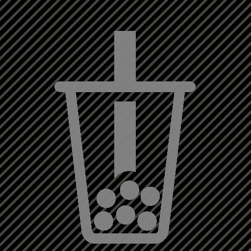 bubble, cold, drink, milk, taiwan, tea icon