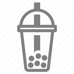 beverage, bubble, cold, drink, lid, milk tea, tea icon