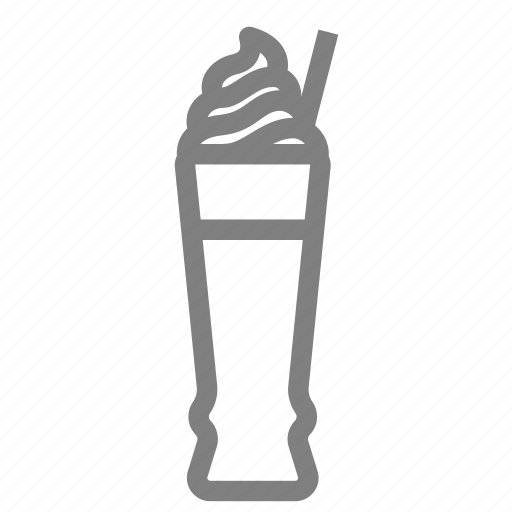 bleand, coffee, drink, frappe, ice cream icon