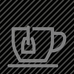 bag, beverage, drink, hot, tea icon